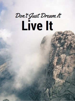 Dont just dream it live it quote